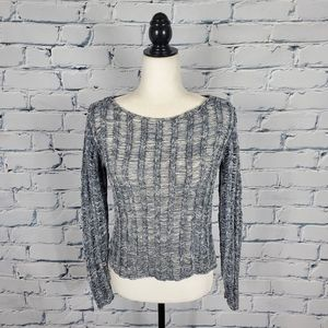 Eileen Fisher Gray Marled Knit Sweater